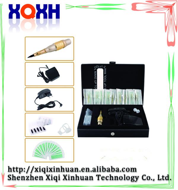 Atacado máquina de tatuagem maquiagem sobrancelha kit maquiagem permanente caneta manual de extensão kit