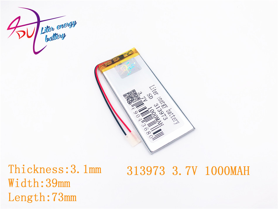 313973 Bluetooth 3,7 V Mp5 Modell Spielzeug Reich Und PräChtig Mp4 Dvd Mp3 1000 Mah 304070 304075 Plib; Polymer Lithium-ion/li-ion Batterie Für Gps