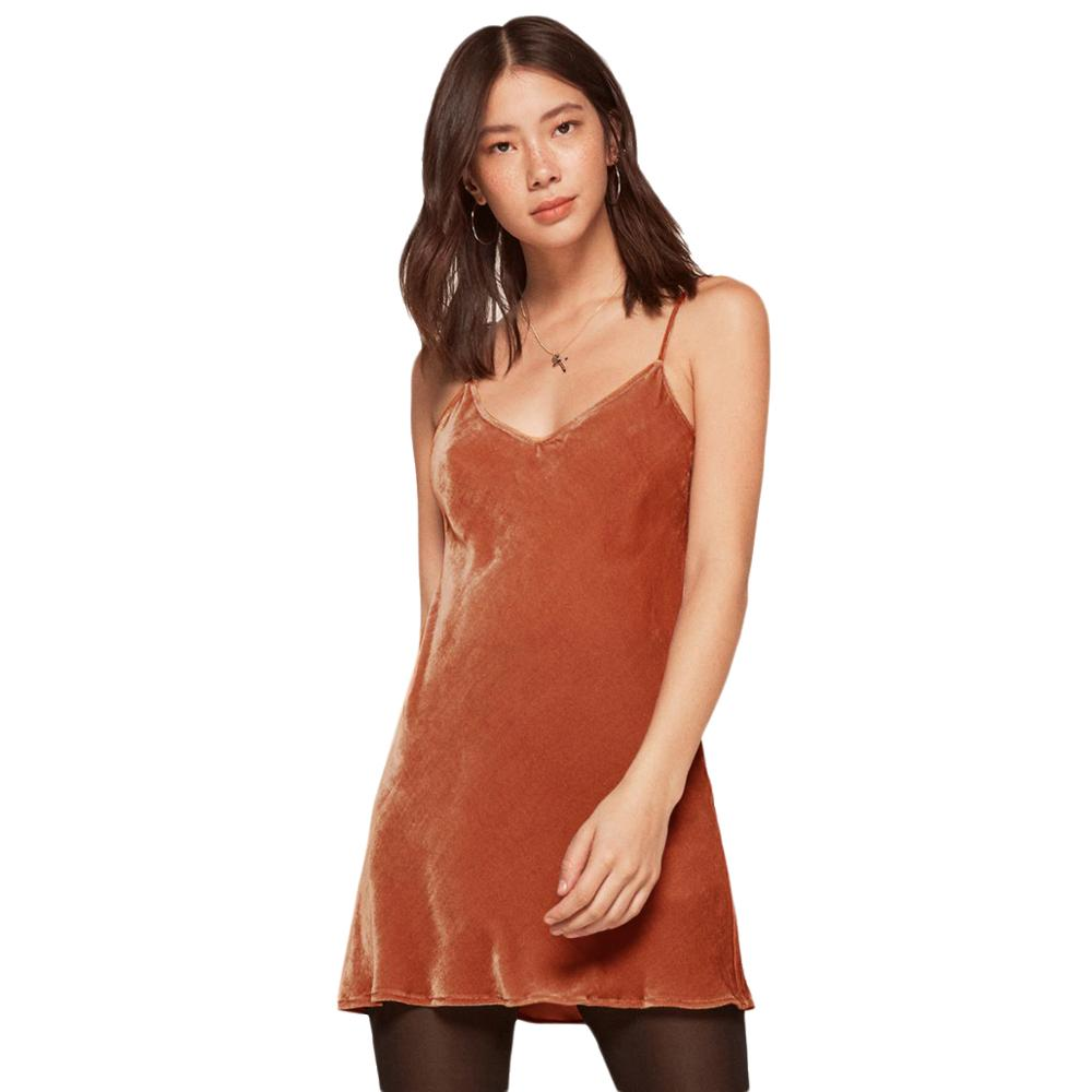 MINSUNDA New Orange Cami Summer Dress Women Plaid Velvet Double V Neck Casual Shift Dresses Fashion Sexy Sleeveless Dress