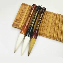 Кисти для китайской каллиграфии, ручка, ландшафт, акварельная живопись, Weasel и шерстяная кисть с несколькими волосами, ручка