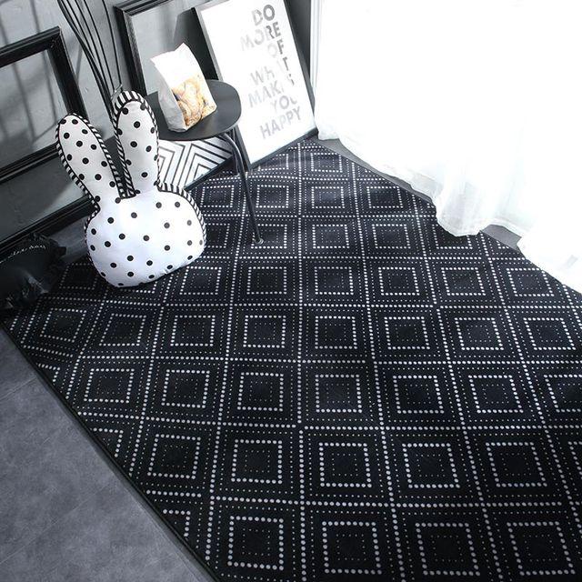 Alfombra y alfombras nórdicas de felpa geométricas para sala de estar dormitorio piso escalada niño chico juego tapete para la puerta del baño alfombra