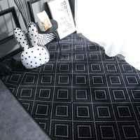Geométrica de nórdico alfombra y alfombras para sala de estar dormitorio piso escalada niño chico bebé Mat de puerta de baño Mat alfombra