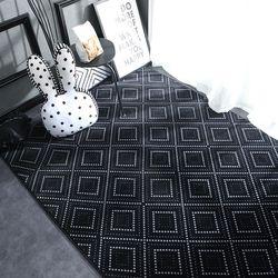 Geométrico de pelúcia nordic tapete e tapetes para sala estar quarto piso escalada criança criança criança bebê jogar tapete porta do banheiro alfombra