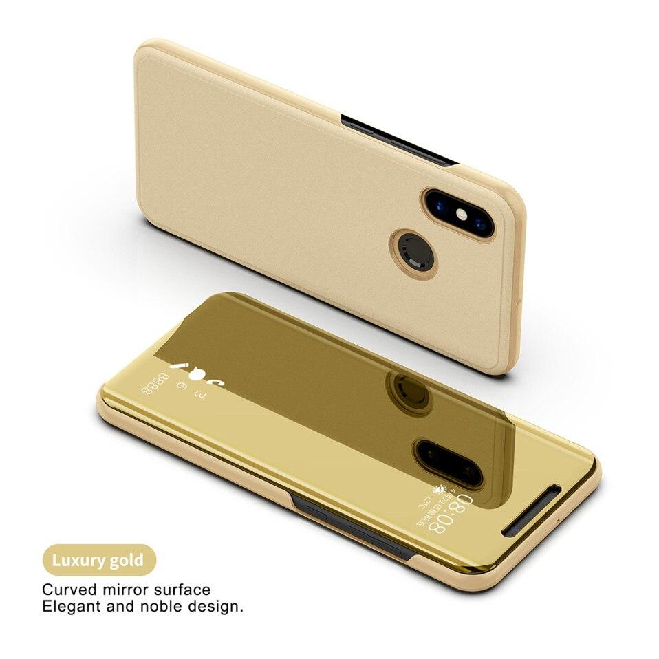 Mirror Flip Case For Xioami Redmi Note 7 5 6 pro 13