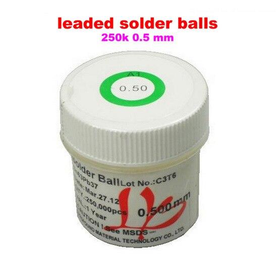 Free shipping! PMTC leaded solder balls 250k 0.5 mm for bga rework reballing pmtc 250k 0 5mm leaded free bga solder ball for bga repair