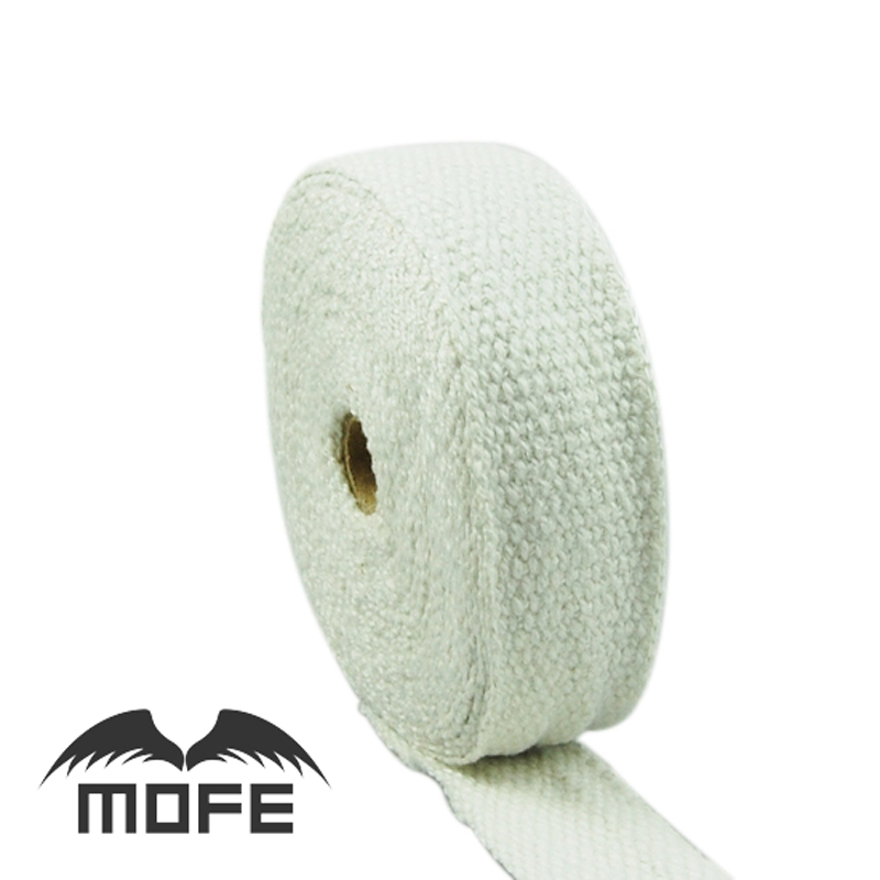 10pcs Car-covers Mofe car 10m x5cm white Header Heat Wrap Exhaust Pipe Resistant pipe Fireproof Insulating hose