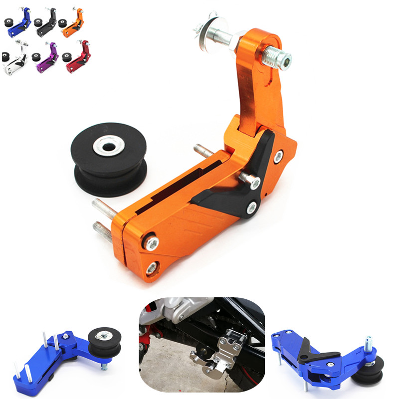 Aluminium Motorcycle Bicycle Single Speed Converter Chain Tensioner Bolt on Roller for Motorcycle Dirt Bike Motocross universal motorcycle chain tensioner bolt on roller chopper atv dirt street bike for honda cbr250r cbr250 r cbr 250r 2011 2013