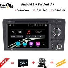 Android 8.0 4 + 32 г 7 «2 DIN dvd-плеер автомобиля GPS навигации Радио Canbus USB SD для audi A3 8 P/a3 8P1 3-дверей/S3 8 P/RS3