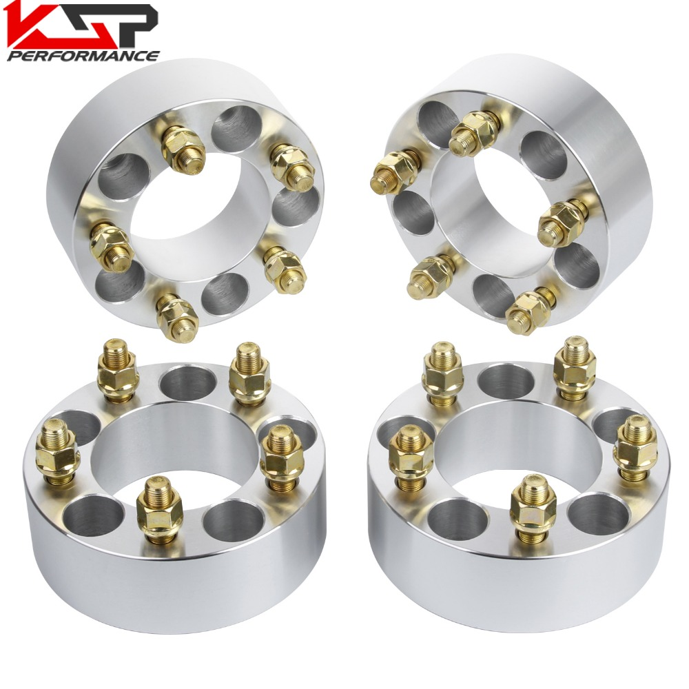 KSP 4 Pc 2'' 50mm Thickness Wheel Spacers Adapter 5 Lug 5x4.5 To 5x4.5 (114.30mm), 1/2 Studs, 82.50mm Bore for Ford Jeep Lincoln 4pcs new billet 5 lug 14 1 5 studs wheel spacers adapters for bmw x5 e70 2007 2013