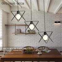 Industrial wind simple personality retro creative Iron Chandelier living room coffee bar bar lamp