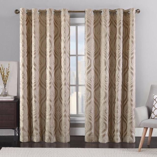 2018 New Style Fashion Modern Kitchen Curtains For Living Room Home  Decorative Drape Fabrics Window Treatment