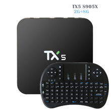 TX5 Android 6.0 TV BOX 2G/8G Amlogic S905X Media Player HD 4 K Entièrement KODI 16.1 Double Wifi Quad core Set Top TV boîte