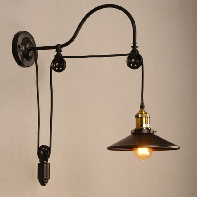 Marvelous Loft Vintage Wall Light For Restaurant Stairs,Creative Retro Wall Lights  Telescopic Lifting Wall Sconces