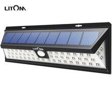 Lampion LITOM 54 Solar LED Luces de La Noche Del Sensor de Movimiento A Prueba de agua Fuera de La Pared Patio Patio LLEVÓ la Iluminación de Energía Solar Lámpara de Jardín