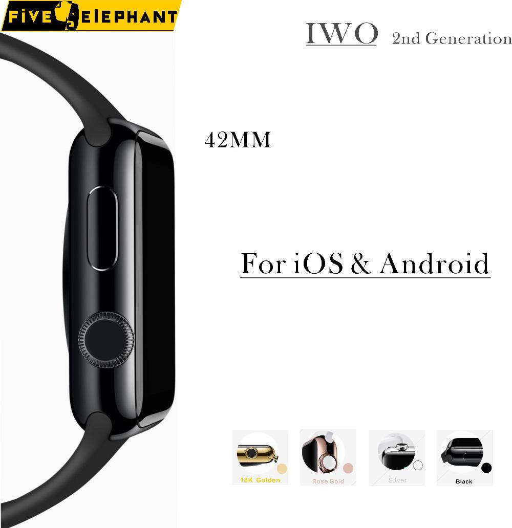Prix pour FiveElephant iwo Mis À Jour 2ème Génération Bluetooth Fasion 1:1 smart watch horloge pour iOS et Android
