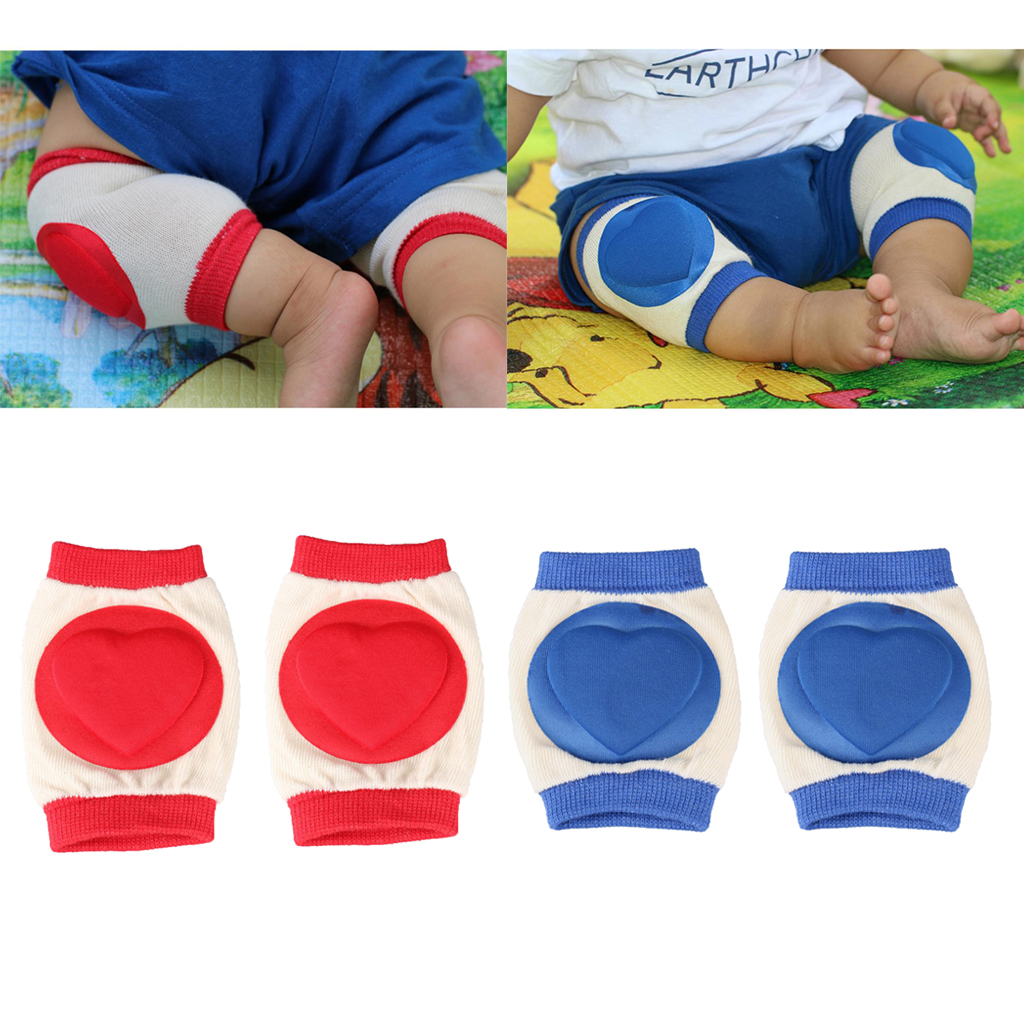1 Pair of Thickened Breathable Anti Slip Crawling Knee Pads Kneepads Protective Gear for Boy Girl Baby Infants Toddlers