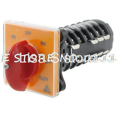 цена на 12A AC 380V 4.5KW 8 Position Rotary Cam Changeover Switch Gcfvz