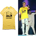 2017 High Quality Summer Justin Bieber Gosha Rubchinskiy PACCBET Printed T Shirt Men young people Casual Cotton Tops Tees XT019