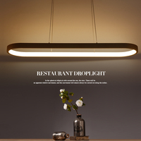 New Creative Modern LED Pendant Lights Kitchen Acrylic Metal Suspension Hanging Ceiling Lamp For Dinning Room