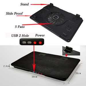 "Image 5 - Professional external Laptop Cooling Pad 13"" 14"" 15.6"" with laptop fan Port slide proof laptop stand for notebook cooler"