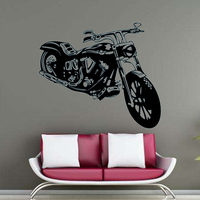 Motorcycle Stickers Wall Stickers Waterproof Vinyl House Decor Gym Sports Decals For Bar Shop Fitness Room Wall Decals