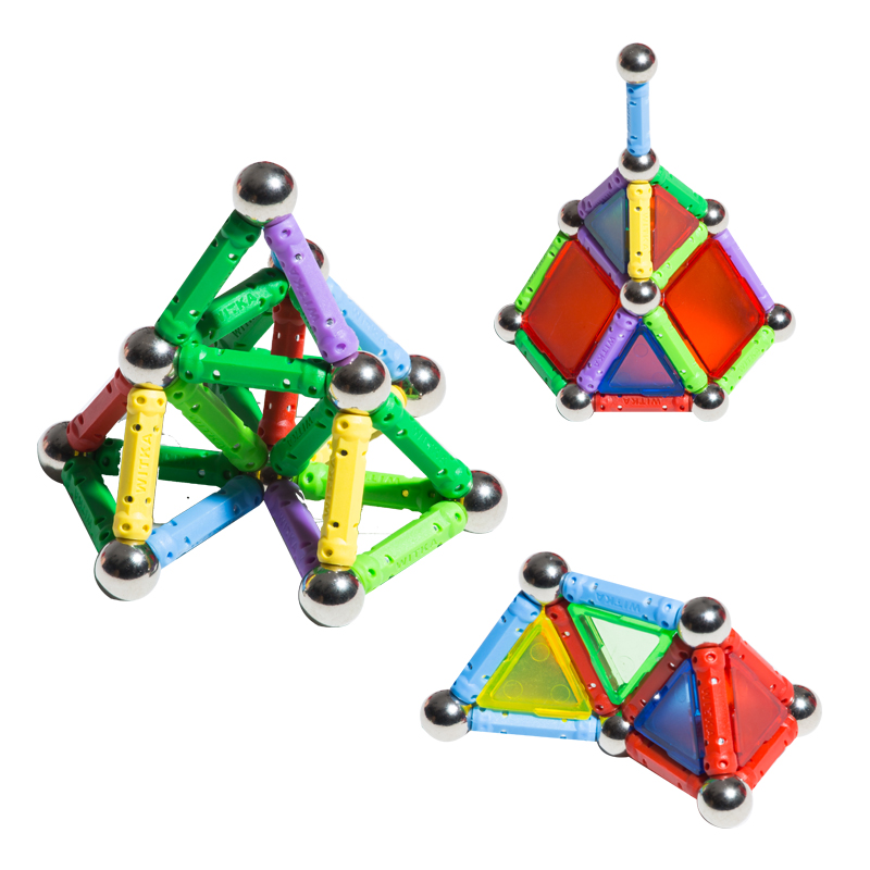 NEW Magnet Toy Bars Metal Balls Magnetic Building Blocks Construction Toys For Children DIY Designer Educational