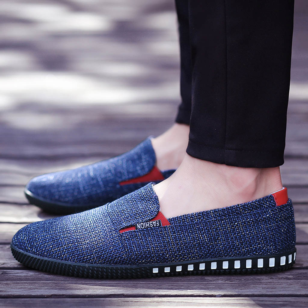Único La Hombre Zapatos Blue Planos De Ocasionales Hombres gray Otoño 2019 khaki Primavera Mocasines Moda Los Ix07qnwHa
