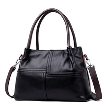 ICEV fashion casual womens leather handbags designer clutch solid zipper tote soft pu shoulder messenger bag top handle