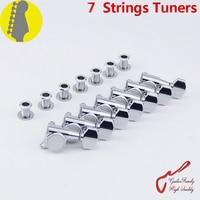 Genuine Original 7 In line GOTOH SG381 07 7 Strings Guitar Machine Heads Tuners ( Chrome ) MADE IN JAPAN