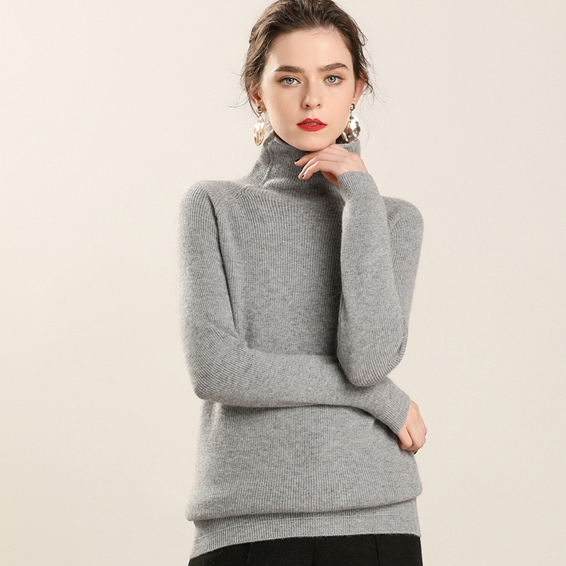High Soft & Best Quality Women Sweater 100% Pure Goat Cashmere Knitted Pullover Winter Fashion Ladies Jumper Girl Thick Clothes-in Pullovers from Women's Clothing    2