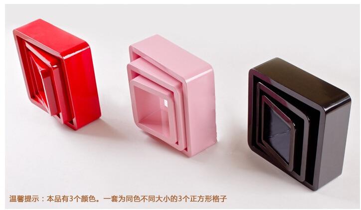 unidslote cuadrado en forma de estantes de pared decorativos de madera estantes de