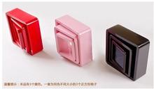 3pieces / lot square Shaped Decorative Wall Shelves Wood Modern pink,white 3D Sticker Korean Shelfs