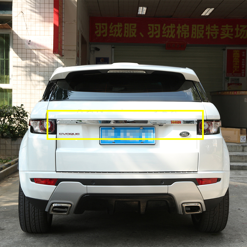 For Land rover Range Rover Evoque 2012-2017 ABS Chrome Rear Trunk Lid Trim Car-Styling newest for land rover range rover evoque abs center console gear panel chrome decorative cover trim car styling 2012 2017 page 4