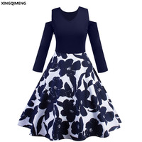 In Stock Cheap Simple Cocktail Dresses With Long Sleeve Elegant Homecoming Dress Navy Blue Formal Dresses