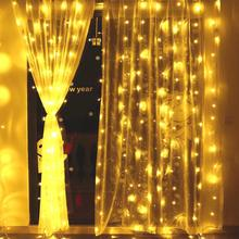 String lights Christmas bedroom decoration Drop 3m Droop 1m/ 3mcurtain icicle string led Garden Party US/EU/UK PLUG