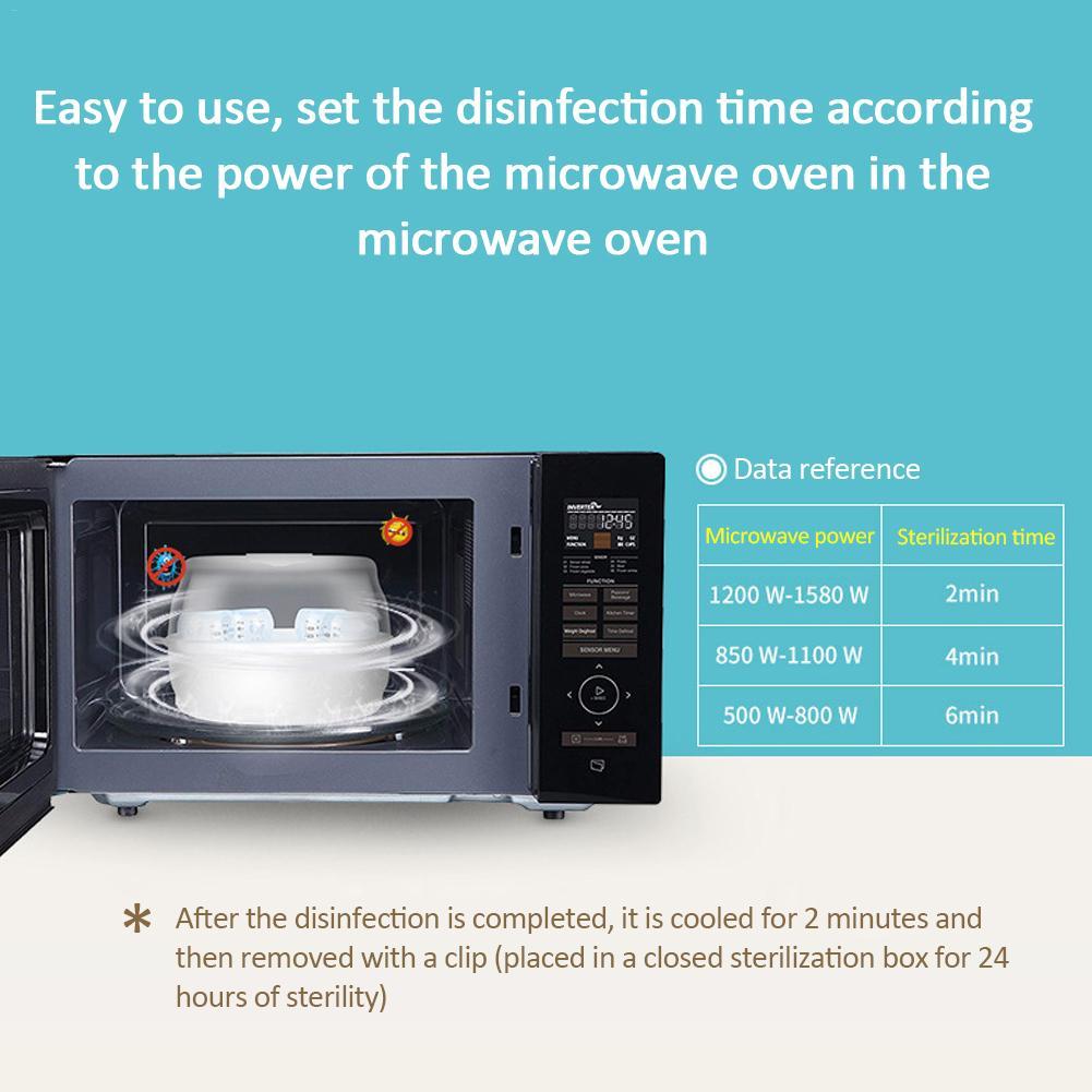 baby bottle microwave steam sterilizer