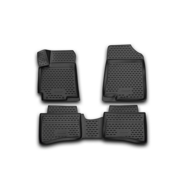 Car Mats 3D salon for HYUNDAI Solaris, 2014-2016, сед., хб... 4 PCs (polyurethane) цена