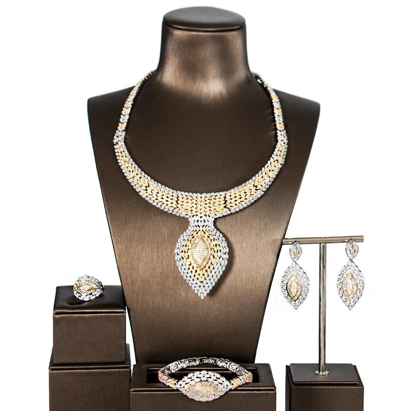 LAN PALACE dubai jewelry sets women new luxury gold and multi color cubic zirconia jewelry sets four pieces free shippingLAN PALACE dubai jewelry sets women new luxury gold and multi color cubic zirconia jewelry sets four pieces free shipping