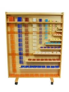 Math-Toys Beads-Shelf Montessori Educational Teaching Cabinet And of Wood MA139-1