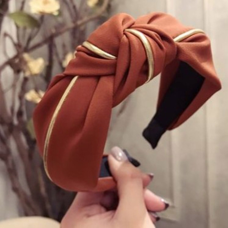 Sale 1PC Wide New Bow Mesh Yarn Headband For Women Wave Point Hairbands Knotted Headwear Hair Styling Accessories