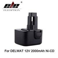 12V 2000mAh Ni CD Rechargeable Power Tool Battery For Replacement For Dewalt DC9071 DE9037 DE9071 DW9072