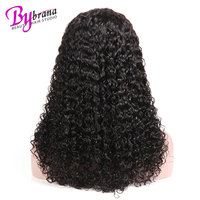 Long And Short Frontal Remy Brazilian Deep Curly Hair 4x4 Lace Front 100% Human Hair Wigs For Black Women With Natural Hairline