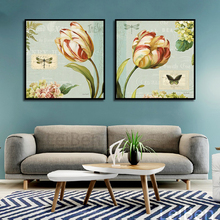 Modern Retro Art Flower And Butterfly Poster Home Wall Print Canvas Painting Picture Bedroom Decoration Luxe Custom