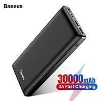 Baseus 30000mAh Power Bank USB C PD Fast Charging 30000 mAh Powerbank For Xiaomi mi Portable External Battery Charger Poverbank