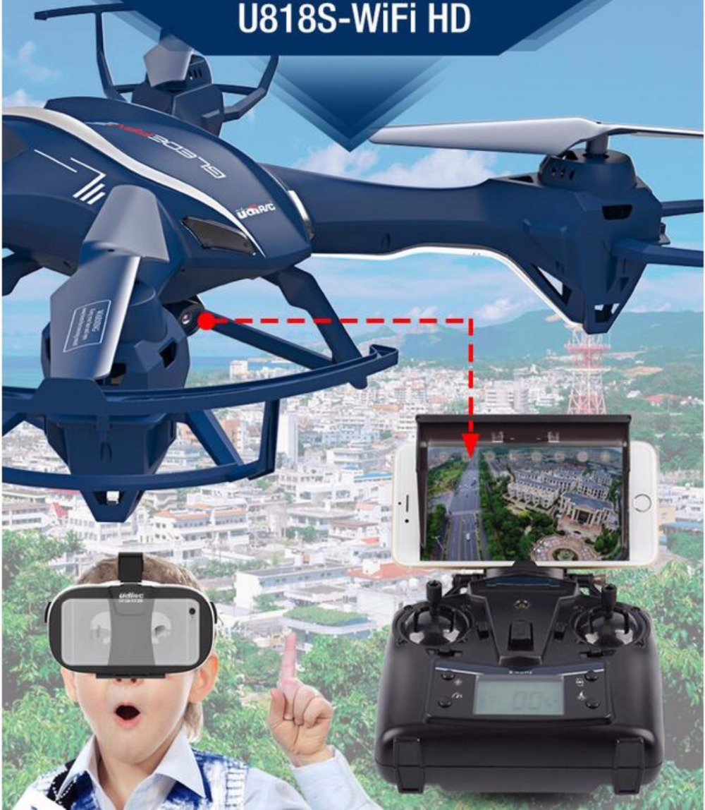 Новый RC Quadcopter u818s Радиоуправляемый Дрон Wi Fi в режиме реального времени передачи 720hd Камера Aerial photogeaph 6 оси гироскоп RC вертолет