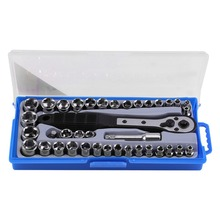 38 Pcs/set 3/8 inch imperial /Metric Ratchet Driver Socket Wrench Tools Multi-functional Socket Wrench Set Durable