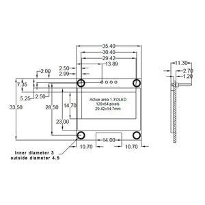 Image 5 - 1.3 Inch OLED Module White Color 128X64 OLED LCD LED Display Module 1.3 IIC I2C SPI Communicate for arduino Diy Kit