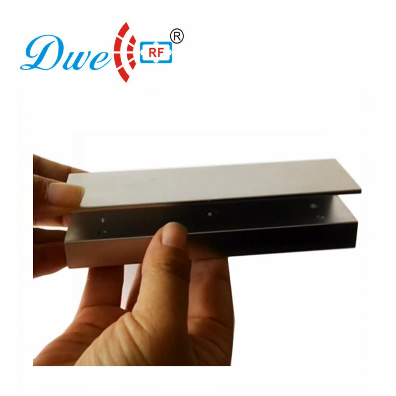 DWE CC RF access control door lock bracket 280kg magnetic lock U type bracket for framless glass door