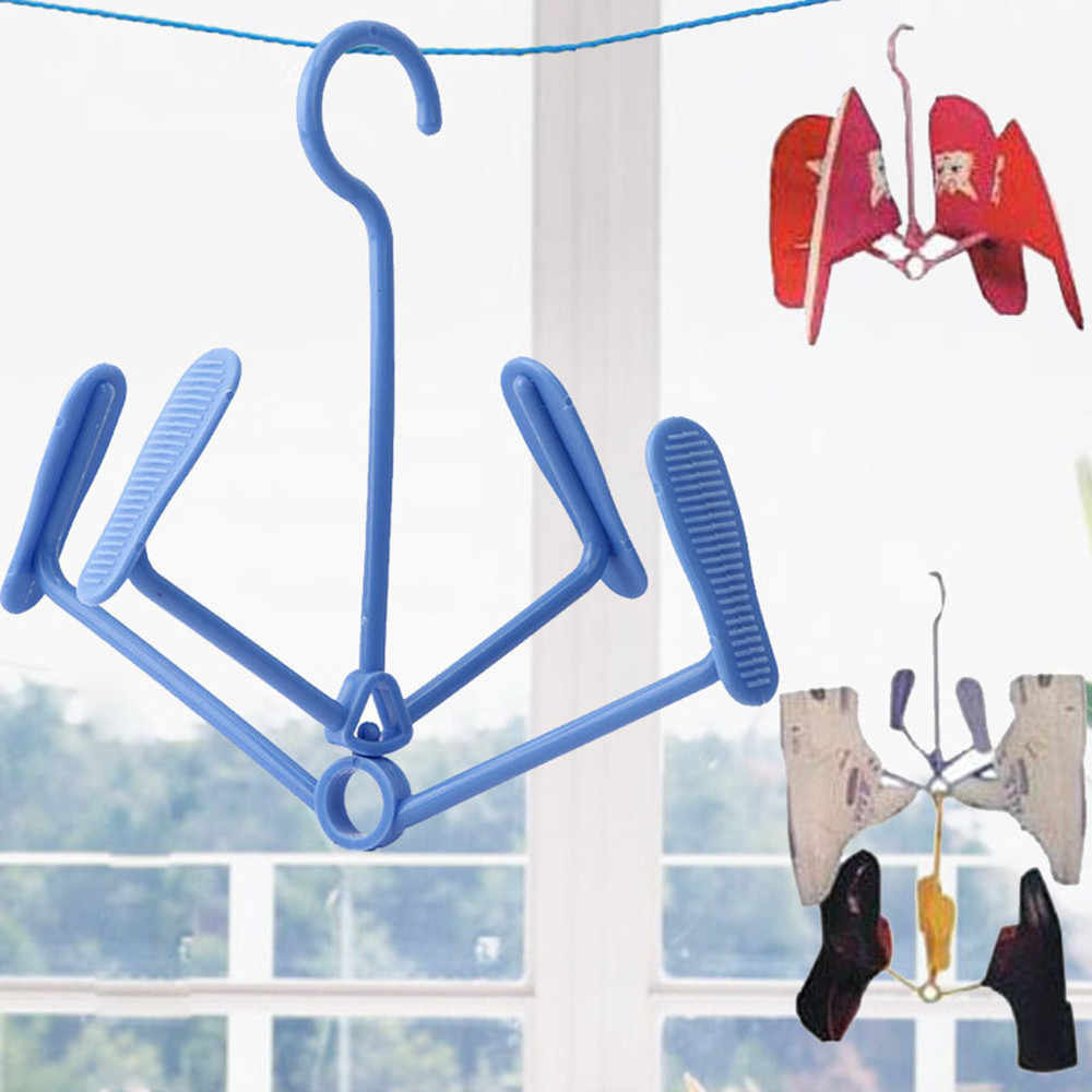 New Arrival 4 clips 21*23cm Plastic Shoe Clothes Socks Shorts Underwear Drying Rack Hanger design Deliver Almacenamiento*20