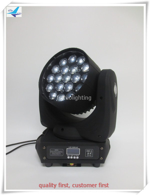T- (6 pieces) Pro Stage Disco DJ Movinghead Yoke Wash Beam 2-in-1 19x10W LED Moving Head Light